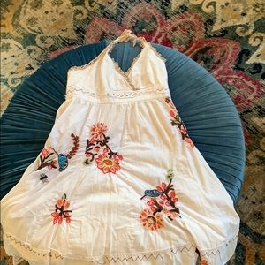 Anthropologie whimsical embroidered dress